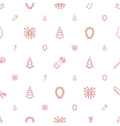 year icons pattern seamless white background vector image
