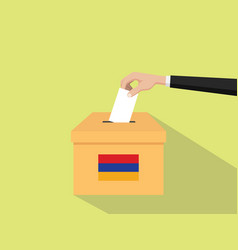 armenia vote election concept with vector image vector image