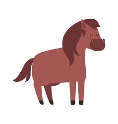 Cartoon pony vector image vector image