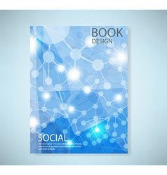 Cover report social network background with media vector image vector image