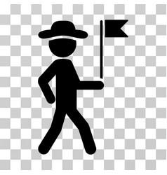 gentleman flag guide icon vector image vector image