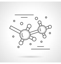 Molecular bonds flat line icon vector image vector image