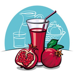 pomegranate juice vector image vector image