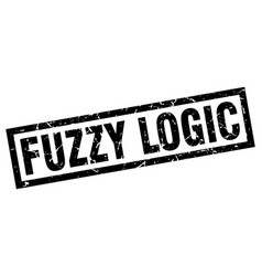Square grunge black fuzzy logic stamp vector
