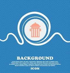 fire hydrant icon sign Blue and white abstract vector image