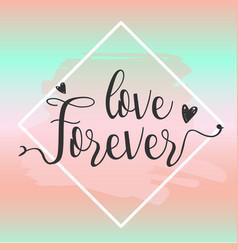 love forever design elements vector image