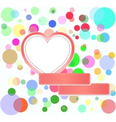 romantic love hearts vector image vector image