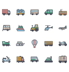 Transport Icons 1 vector image vector image