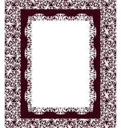 Design frame swirling elements vector image vector image