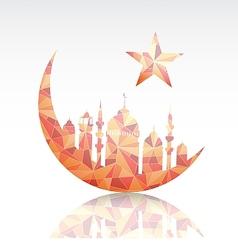 Ramadan greeting card design element vector image vector image