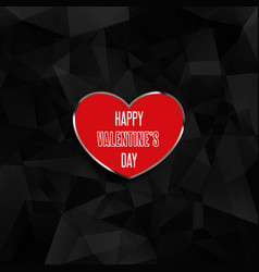 valentines day heart on low poly background vector image