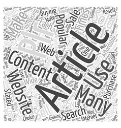 Buying PLR Articles What You Need to Know Word vector image vector image