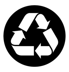 Recycled paper symbol vector image
