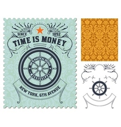Retro stamp design vector image vector image