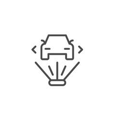 3d hologram line outline icon vector image