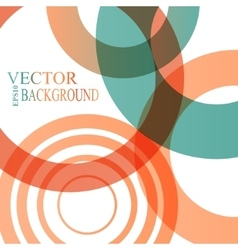 Abstract shapes background colorful bubbles vector image