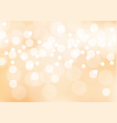 abstract soft orange bokeh light background vector image vector image