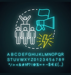 activist neon light concept icon campaigning vector image