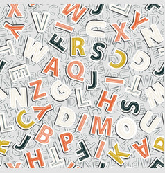 Alphabet pattern on a gray background vector