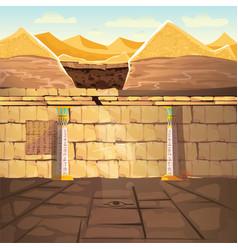 Ancient egypt pharaoh underground lost tomb vector