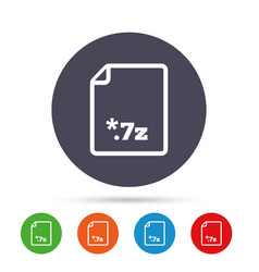 Archive file icon download 7z button vector