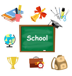 back to school background set tools vector image