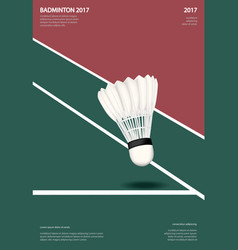 Badminton championship poster vector