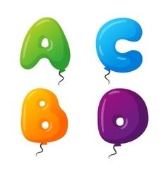 Balloon alphabet set vector