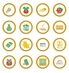 Bank loan credit icons circle vector