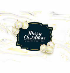 beautiful merry christmas frame with realistic vector image