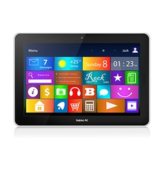 Black Tablet PC with metro interface vector image