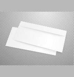 Blank white envelope mockup isolated on vector
