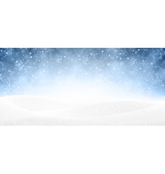 Christmas snowy banner vector image