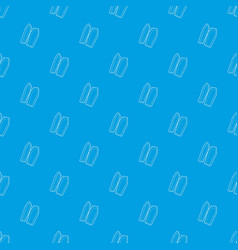 coffin pattern seamless blue vector image