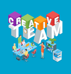creative team concept vector image