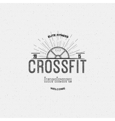 crossfit badges logos and labels for any use vector image
