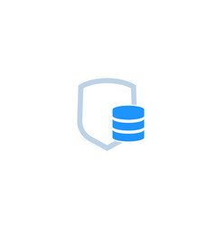 Database security data protection icon vector