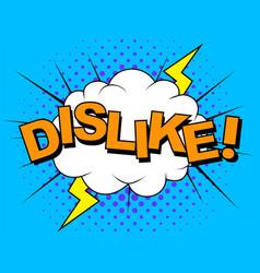 dislike thumbs down icons for social vector image