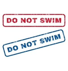Do Not Swim Rubber Stamps vector image