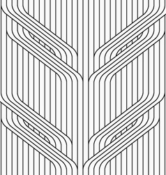 Flat gray with tree branches on continues stripes vector image