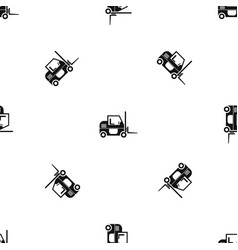 forklift pattern seamless black vector image