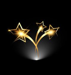 Golden stars logo icon academy award icon vector