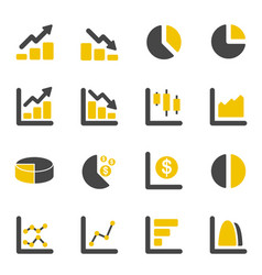 graphic design chart and diagram icons business vector image