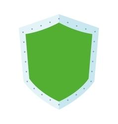 Green shield icon vector