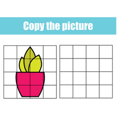 Grid copy picture activity educational children vector