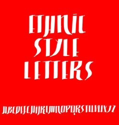 grunge old pen gothic font ethnic script vector image