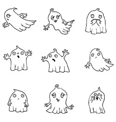 Halloween Ghost pack vector image