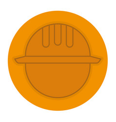 Head worker with helmet vector