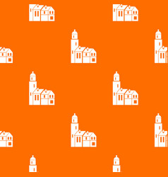 Houses pattern seamless vector
