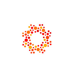 isolated abstract round shape orange and red color vector image vector image